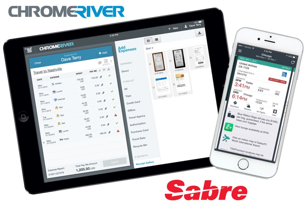 Chrome River and Sabre: Making Integrated Travel and Expense Even Smoother